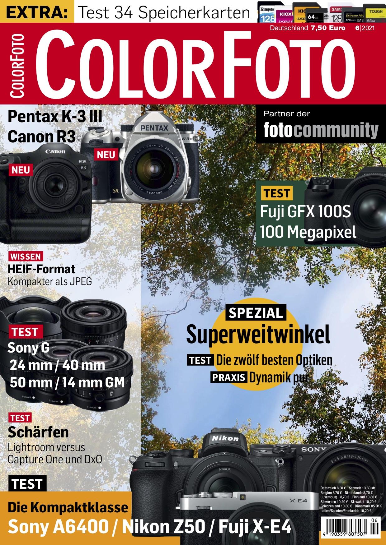colorfoto, Ausgabe 06 / 2021