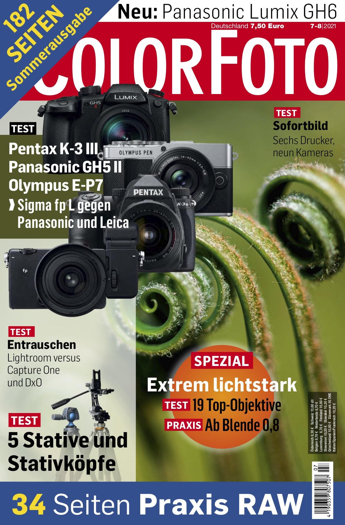 colorfoto, Ausgabe 07 / 08 / 2021